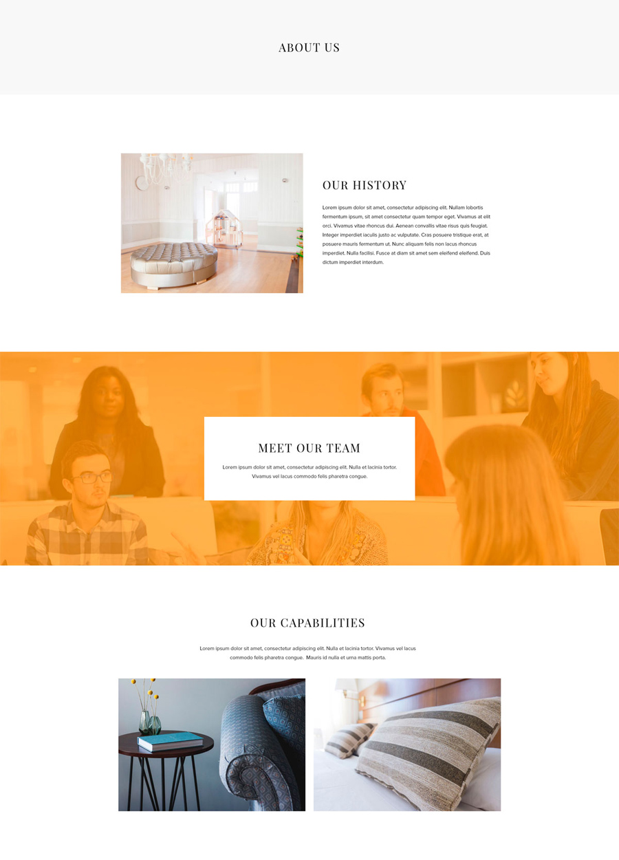 Interior Design Template - About Page