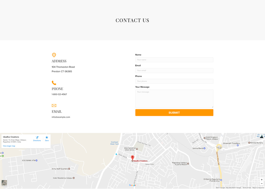 Interior Design Template - Contact Page