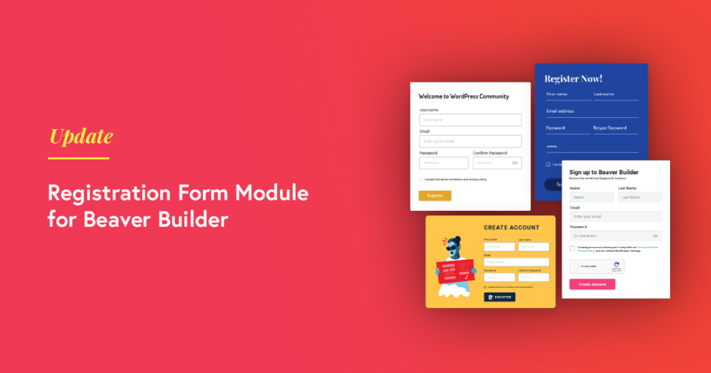 Beaver Builder Registartion form module