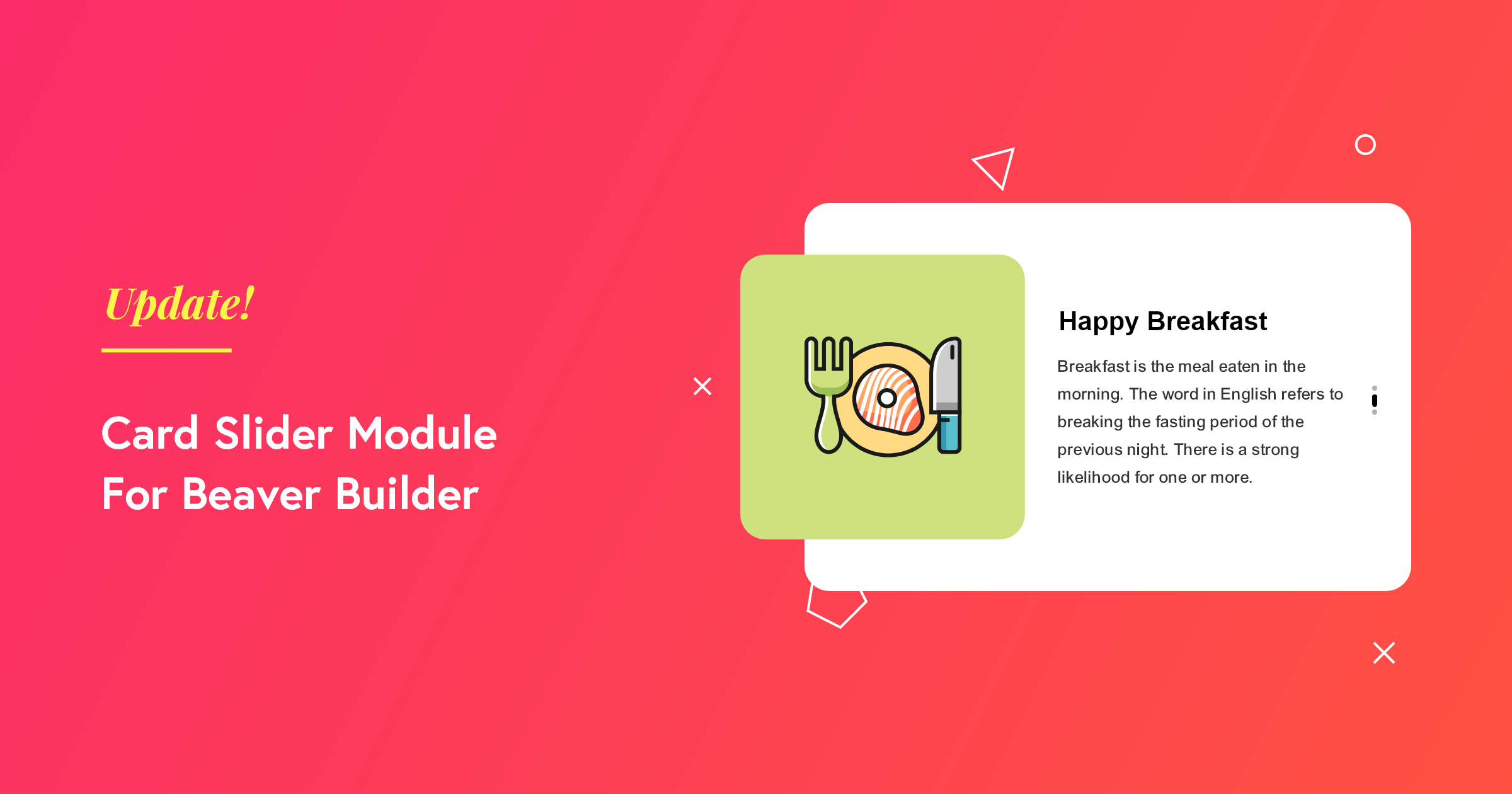 Card Slider Module for Beaver Builder
