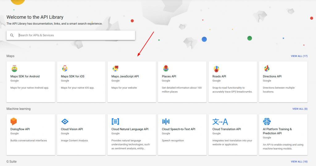 Enable Maps JavaScript API