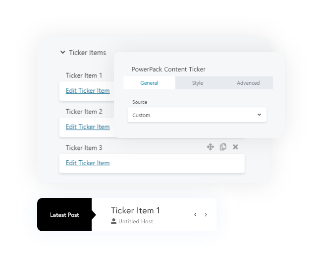 Content ticker module for beaver builder