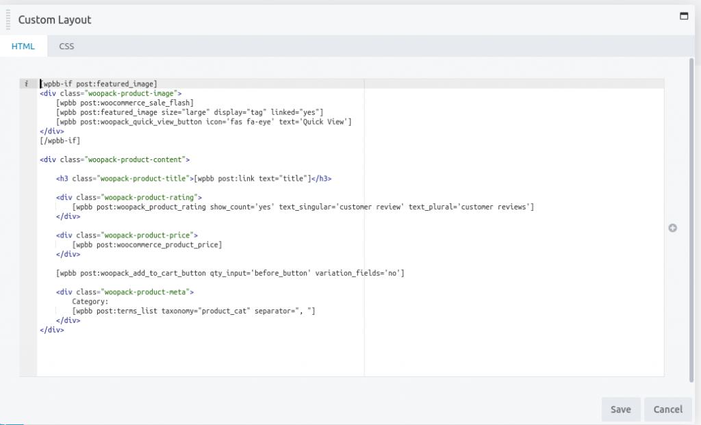 HTML & CSS in Custom Layout