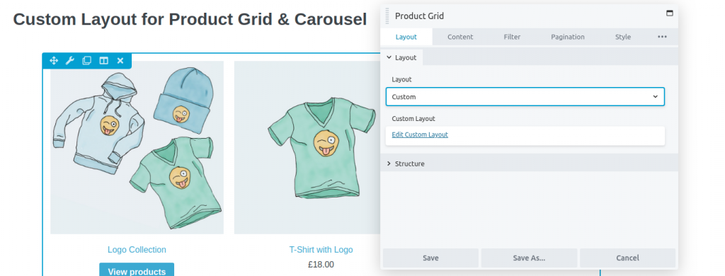 Product Grid Settings