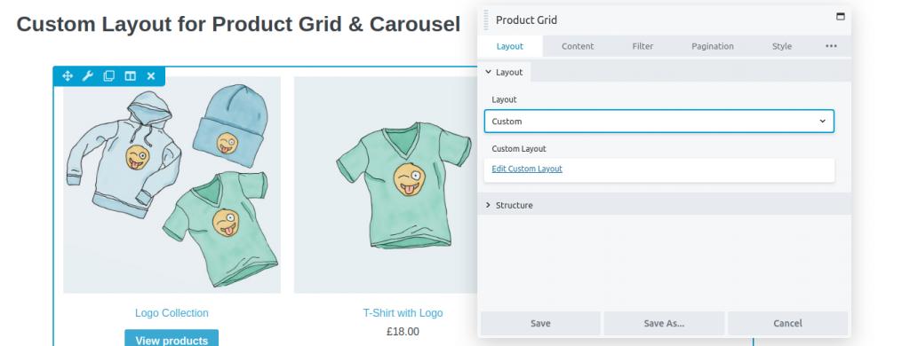 Product Grid Settings