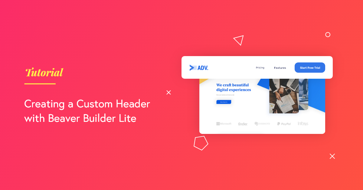 Custom Header Beaver Builder