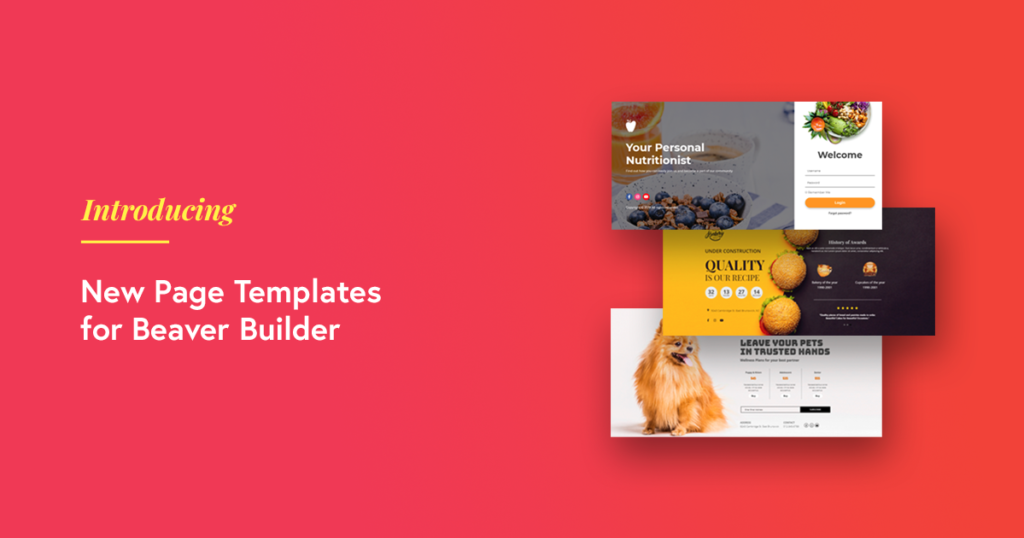 Page templates for Beaver Builder