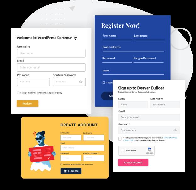 Beaver Builder Registration Form
