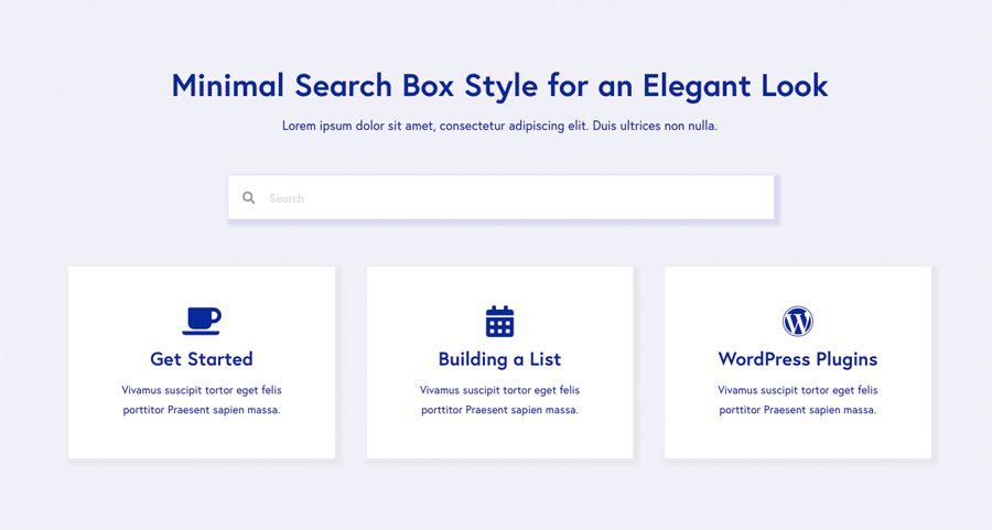 minimal search form module style